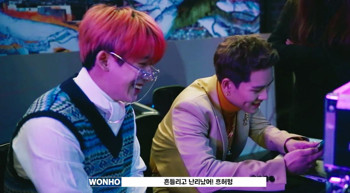 when jooheon was shooting red carpet MV, wonho came on the sets to support him. when changkyun was shooting horizon MV, wonho came on the sets to support him. wonho is such a lovely and caring hyung  @OfficialMonstaX<br>http://pic.twitter.com/gx8wdrx57N