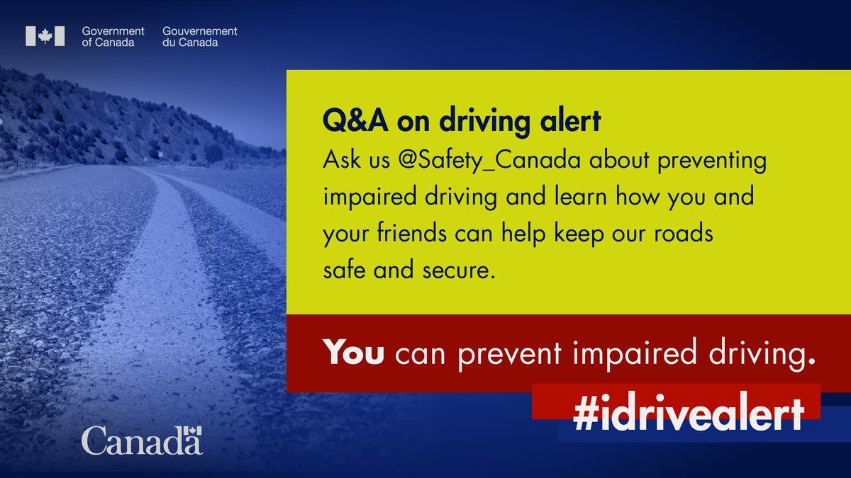 Have a question about #impaireddriving?   We're here to answer. #StopImpairedDriving