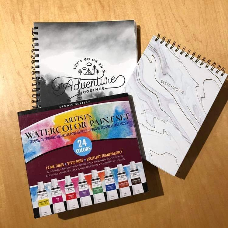 An excellent stress reliever is a little art therapy (even if you're not a Picasso).  Paint it out with today's featured items!  Available on the third floor in the Bull&#39;s Head Bookshop or calling in an online order! #featureditemoftheweek #art #spotlight<br>http://pic.twitter.com/5FU3zEZnwa