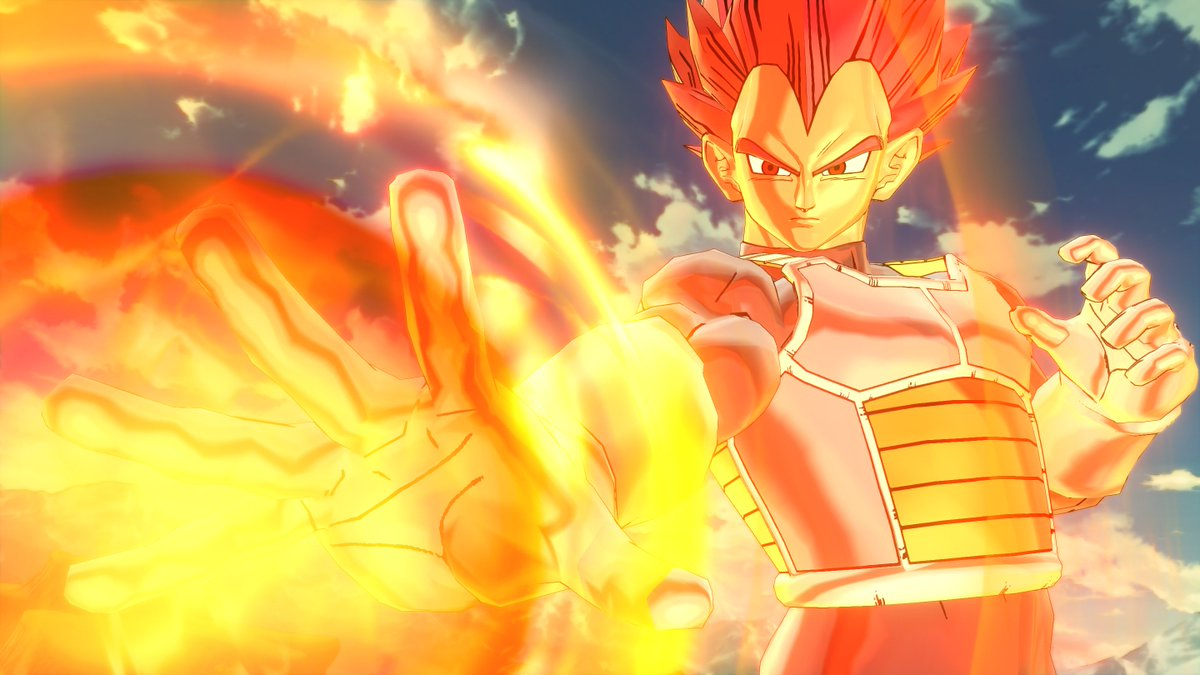 """""FUN TIME IS OVER!"" Vegeta (Super Saiyan God) will be playable in DRAGON BALL XenoVerse2 when Ultra Pack 1 comes out in June!  DBXV2 will also be getting new content in the online mode in the next free update. Start playing #DBXV2 today: http://bit.ly/2wsR7GK"