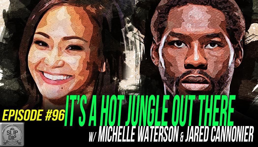 "💥NEW EPISODE💥  #96 - ""It's a hot jungle out there"" w/ Michelle Waterson (@karatehottiemma) & Jared Cannonier (@killagorillamma)  Watch/Listen, Share, Subscribe! 👇 📽️https://t.co/SL3qzm3KJs 🎧https://t.co/D3Ze05Ih0z 🍎https://t.co/fmrC0N3k5q #UFC237 https://t.co/s9iAfEzmhu"