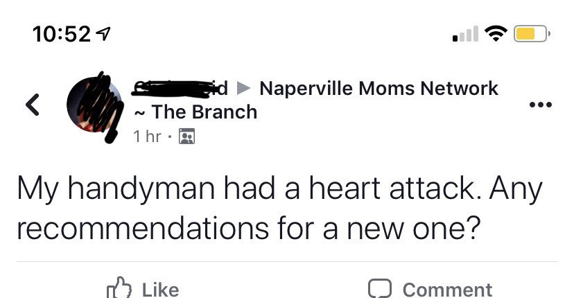 the naperville moms facebook group: