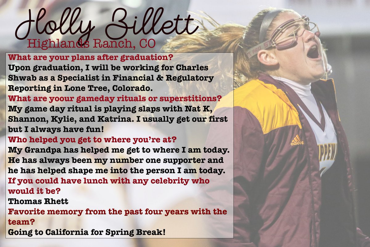 First up for our senior showcase, Holly Billett!