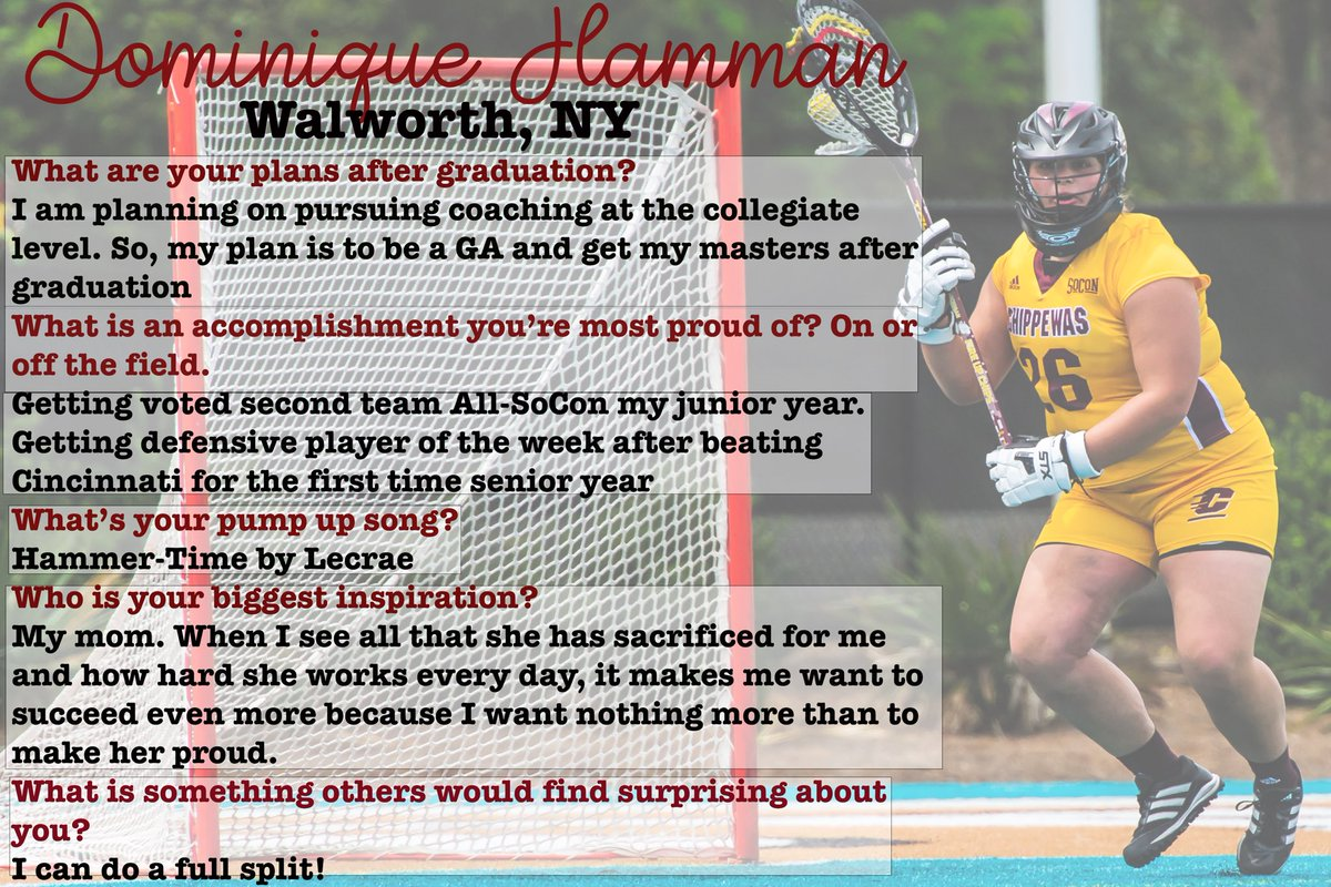 Next up, Dominique Hamman! We have to post twice in order to get through this Team One class! 🔥👆🏼