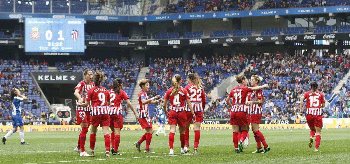😀⚽ Superamos una nueva prueba de máxima dificultad en el #EspanyolAtleti con nota 💪 ¡Con más ganas que nunca de afrontar nuestra próxima final!🙌 😴¡Buenas noches, #AtléticosPorElMundo!👋🌃  #AúpaAtleti https://t.co/g0pyktLmQw