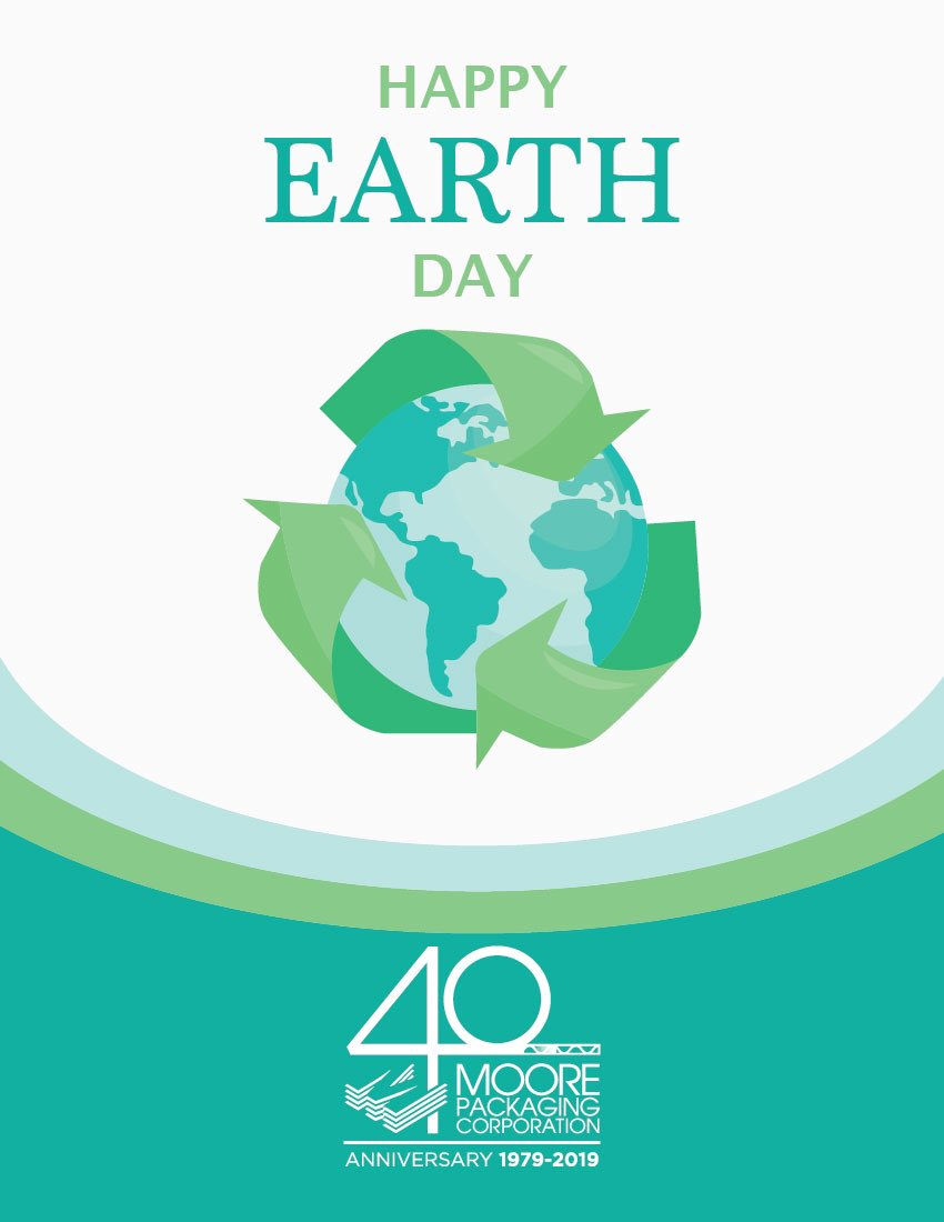 Responsibly managed corrugated packaging is good for the planet. Corrugated is 100% Renewable and Recyclable. #earthday2019 #recycle #corrugated #moorepackaging