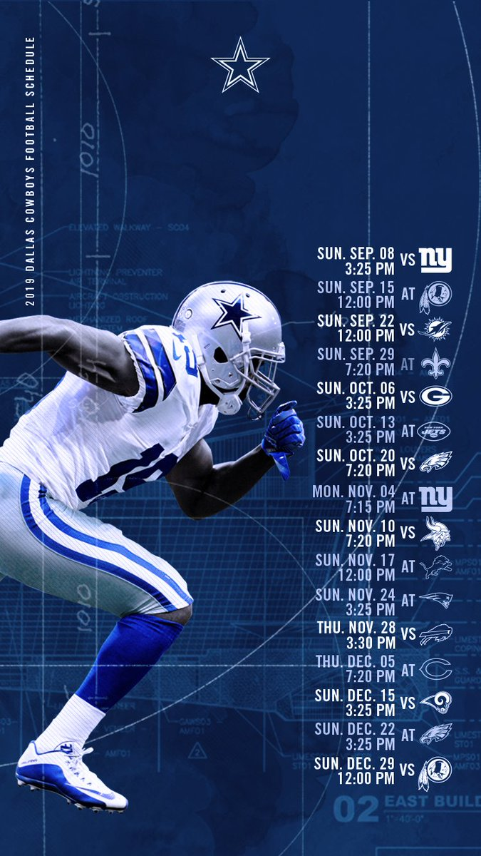 Slobbery image intended for dallas cowboy schedule printable