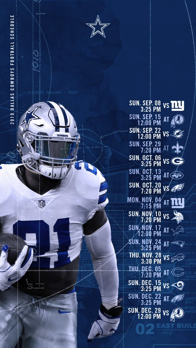 This is a photo of Handy Dallas Cowboy Schedule Printable
