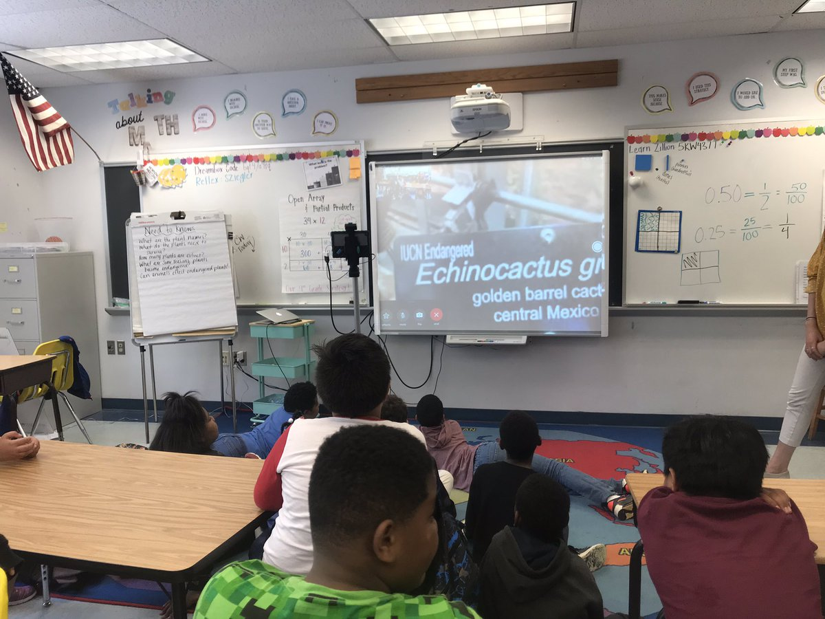 What a great PBL entry event today! Fourth graders chatted with Lee from the <a target='_blank' href='http://twitter.com/USBotanicGarden'>@USBotanicGarden</a> and learned about a couple rare plants! Now their turn to research and create documentaries! <a target='_blank' href='http://twitter.com/mrgildea33'>@mrgildea33</a> <a target='_blank' href='https://t.co/HmE7UGFtvx'>https://t.co/HmE7UGFtvx</a>