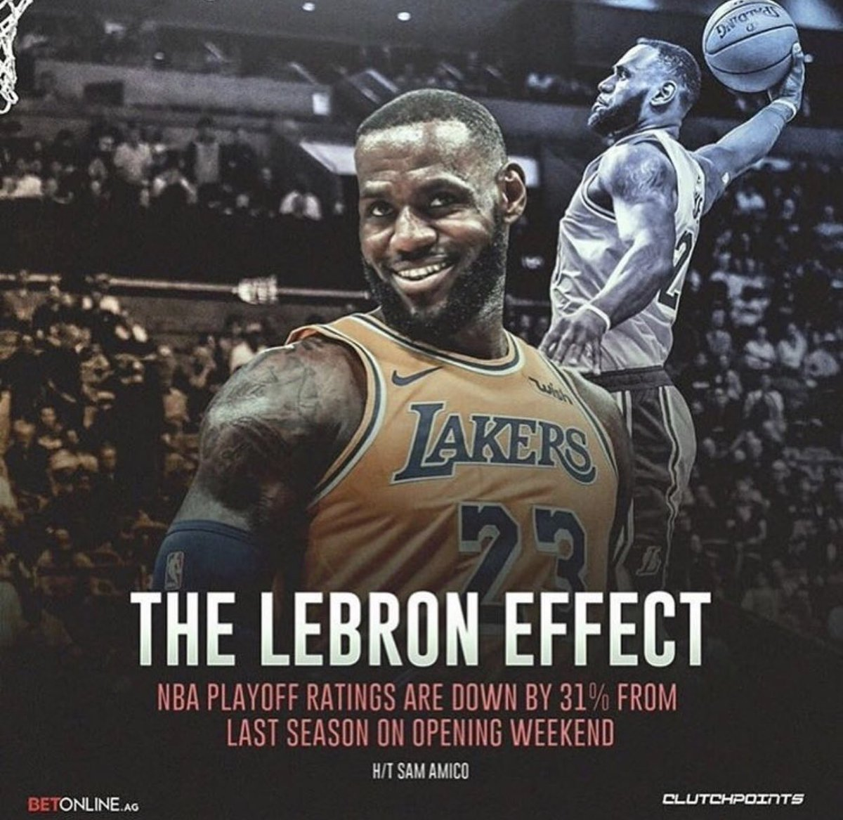 """""""The Lebron Effect"""" lmao 🙈🙈🙈 Fortnite gets better ratings than the #NBA without the #Goat #LebronJames #Fortnite #NBAPlayoffs #Ratings @KingJames #Basketball #KingJames"""