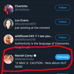 Image for the Tweet beginning: The actual @MariahCarey liked my