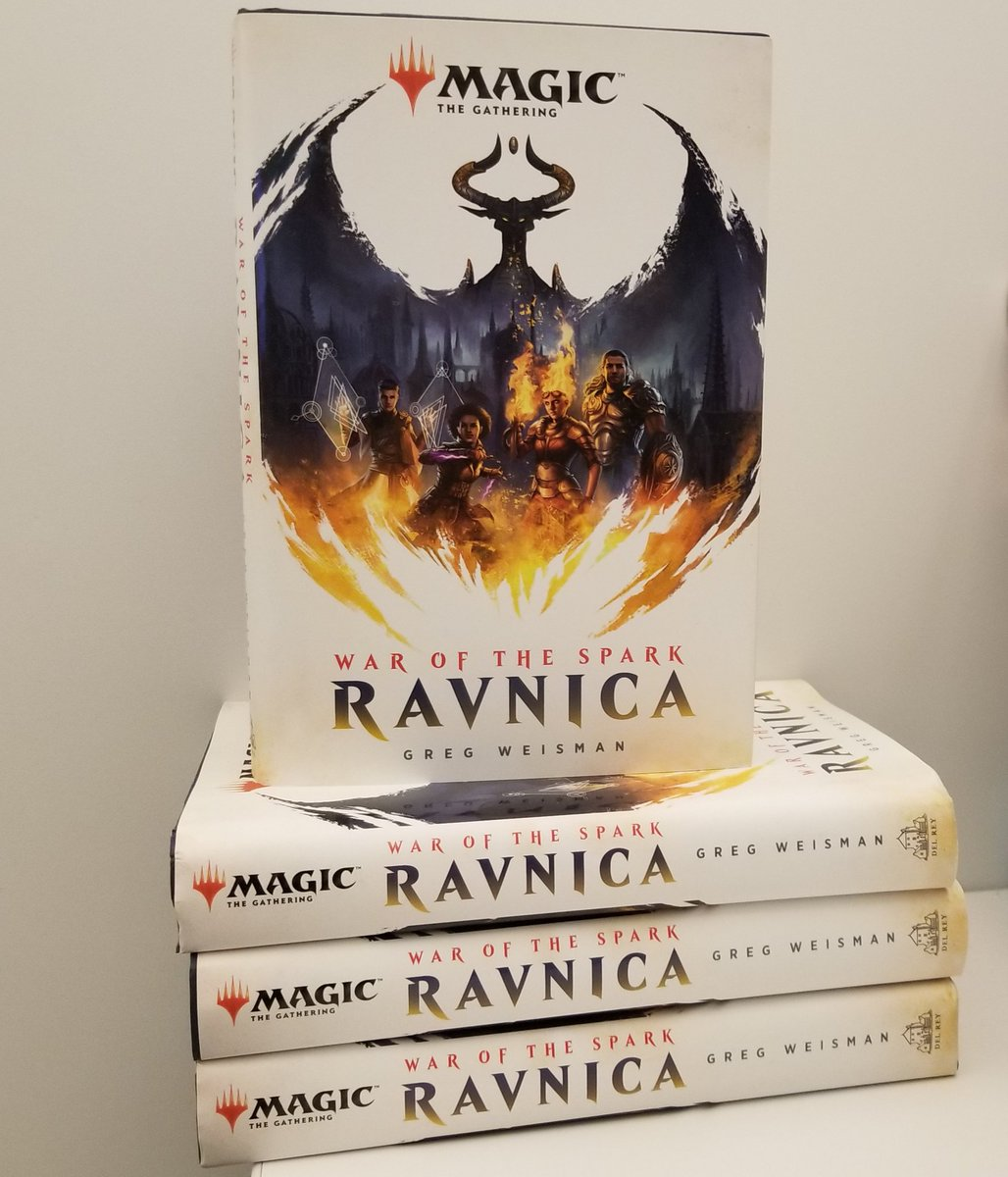 War of the Spark: Ravnica is out tomorrow. In celebration of #MTGWAR and our first Magic novel, I&#39;ll answer a few questions about the book. Leave &#39;em below and I&#39;ll get to them today. Also I&#39;ll send 1 person a free copy signed by author Greg Weisman. #mtg <br>http://pic.twitter.com/s4yn0vTdLd