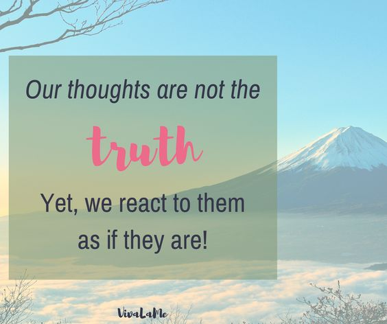 Our thoughts can either make us or break us, especially if we take our negative thoughts as truth. Pay attention more to how you talk to yourself.  #Mentalhealth #changenegativethinking #Thoughtchange #Mentalhealthawareness