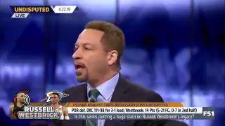 """""""Damian Lillard is better than Westbrook -- he's a better basketball player. Westbrook is a better athlete. Steph, Dame, Kyrie, Harden, now are better players, better PGs than Westbrook. Westbrook is no longer going to be in the consideration of a top 5 player."""" —@Chris_Broussard"""