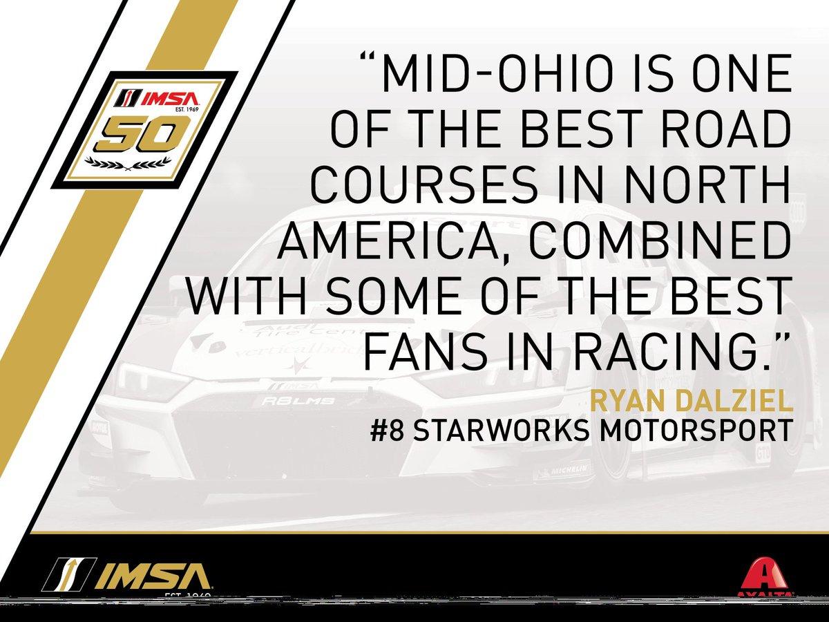 Some #MondayMotivation for everyone, we are one day closer to @Mid_Ohio! #IMSAstMO #IMSA50 @ryan_dalziel