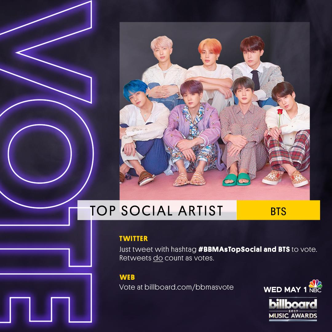 Billboard On Twitter Voting Is Officially Open For Top Social Artist At The Bbmas Vote For Bts Twt For Bbmastopsocial Here Https T Co 2yyrppt3gc Https T Co Sflekqnqfs