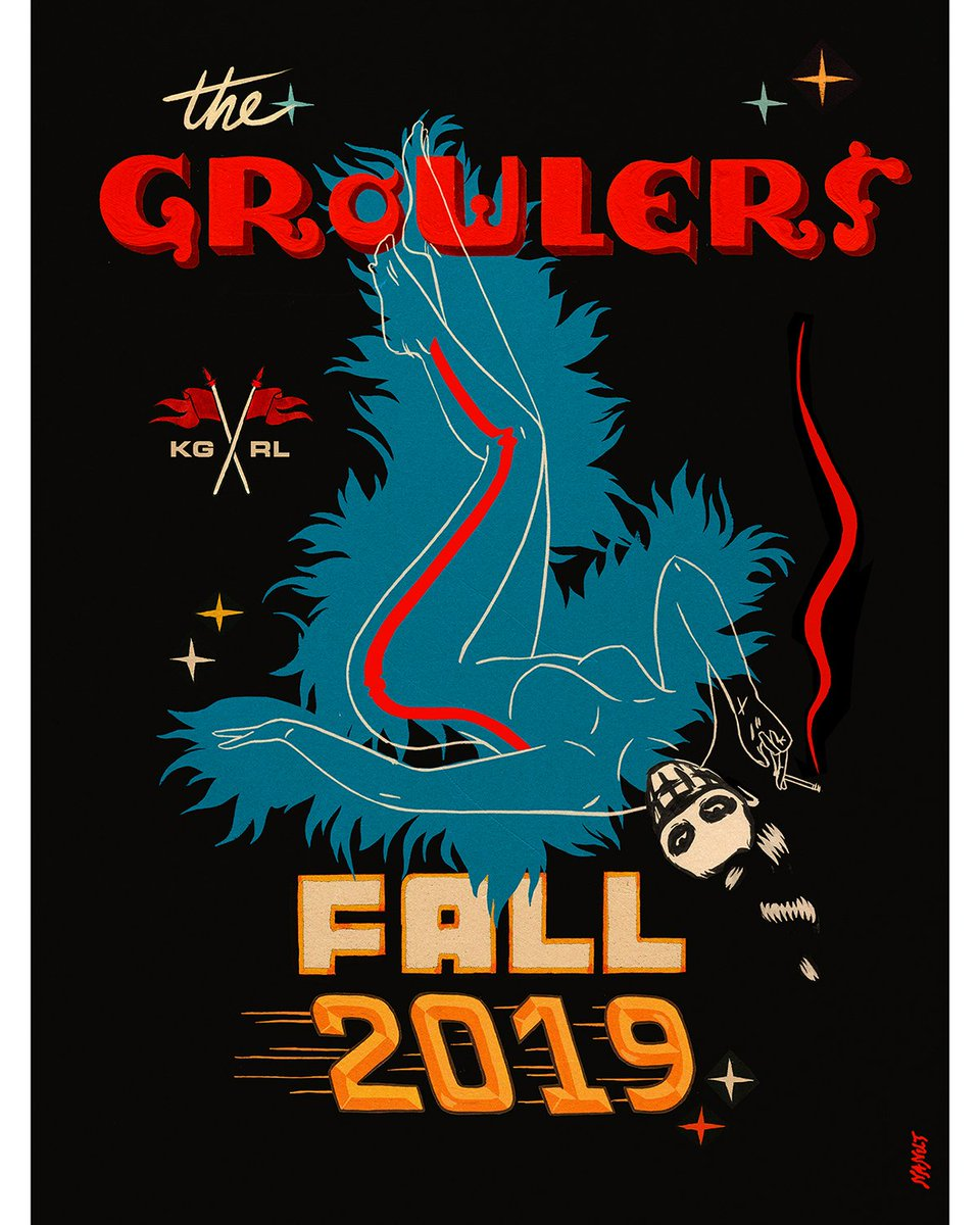 Just Announced! Fall 2019 Tour!! On Sale This Friday, April 26, 10AM. Tickets and Complete List of 2019 Tour Dates:  http:// TheGrowlers.com  &nbsp;  <br>http://pic.twitter.com/3o8k4Zep34