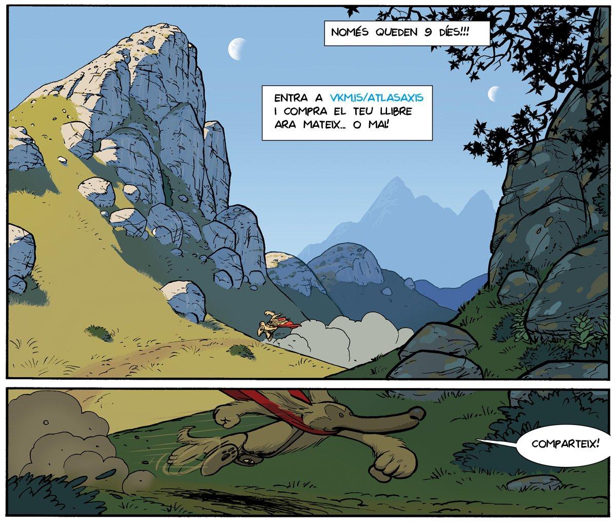 Recordau! Només queden 9 díes!  Voleu llegir aquest còmic en català?  http://vkm.is/atlasaxis  @comicat @Tuguicomiquer @ocbcat @tv3enlluita @tv3cat @verkamiCAT @omnium