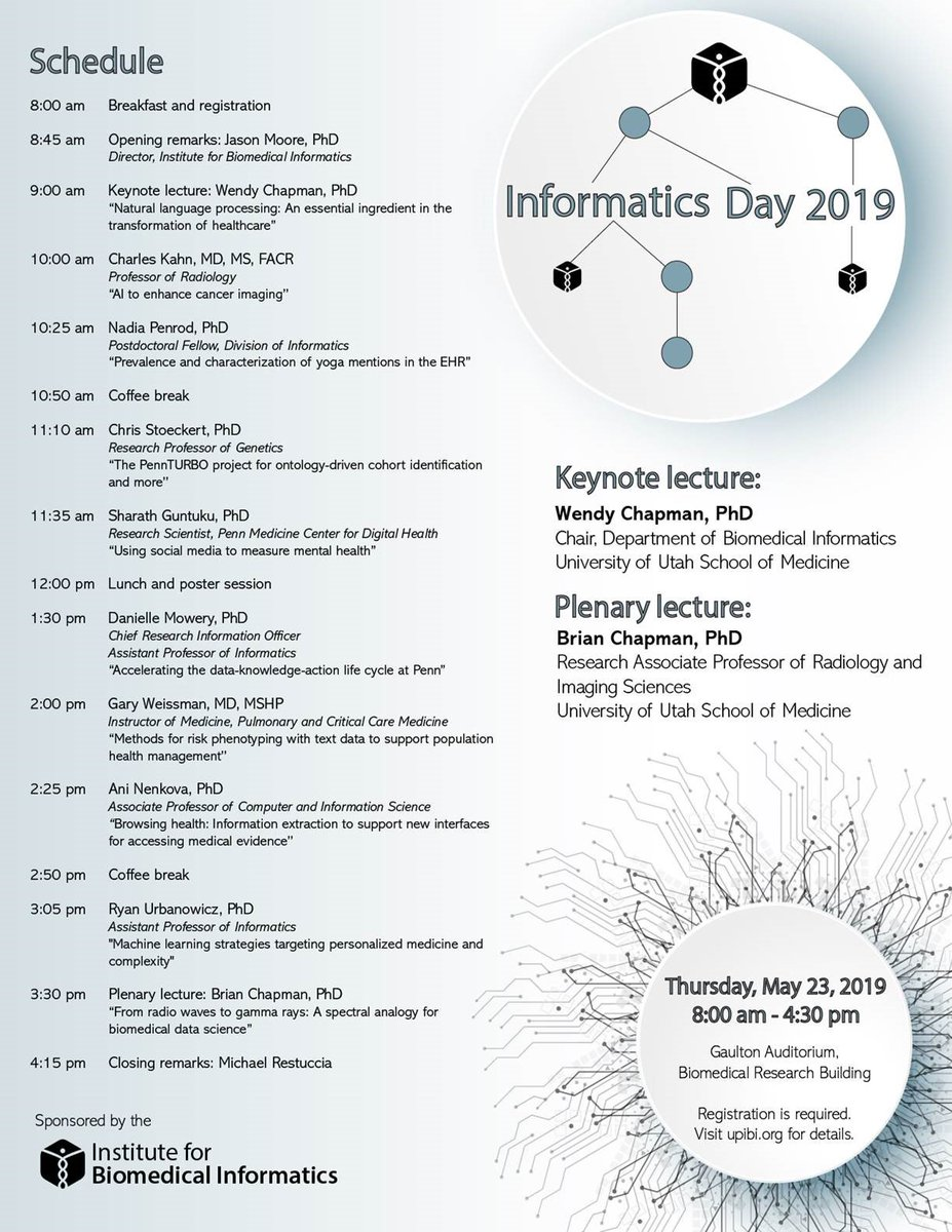 test Twitter Media - RT @UPennIBI Registration is open for our 2019 #Informatics Day coming up on May 23rd https://t.co/MH8ZIMC3pl #penn https://t.co/eNROqxFPCI
