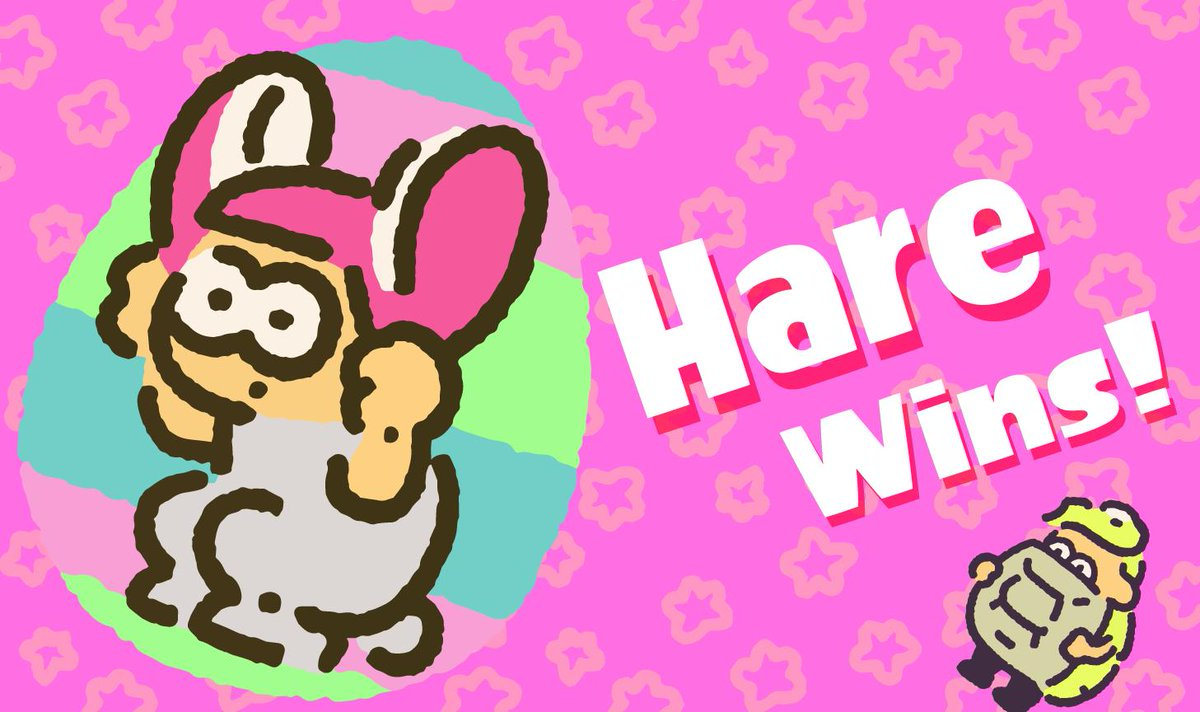 The #Splatoon2 #SpringFest numbers are in, and #TeamHare rewrites the story with a 2-1 win! Thanks to all the rabbits and turtles that joined in this #Splatfest, and be sure to grab your Super Sea Snails in Inkopolis Square!<br>http://pic.twitter.com/jSjZHtipxw