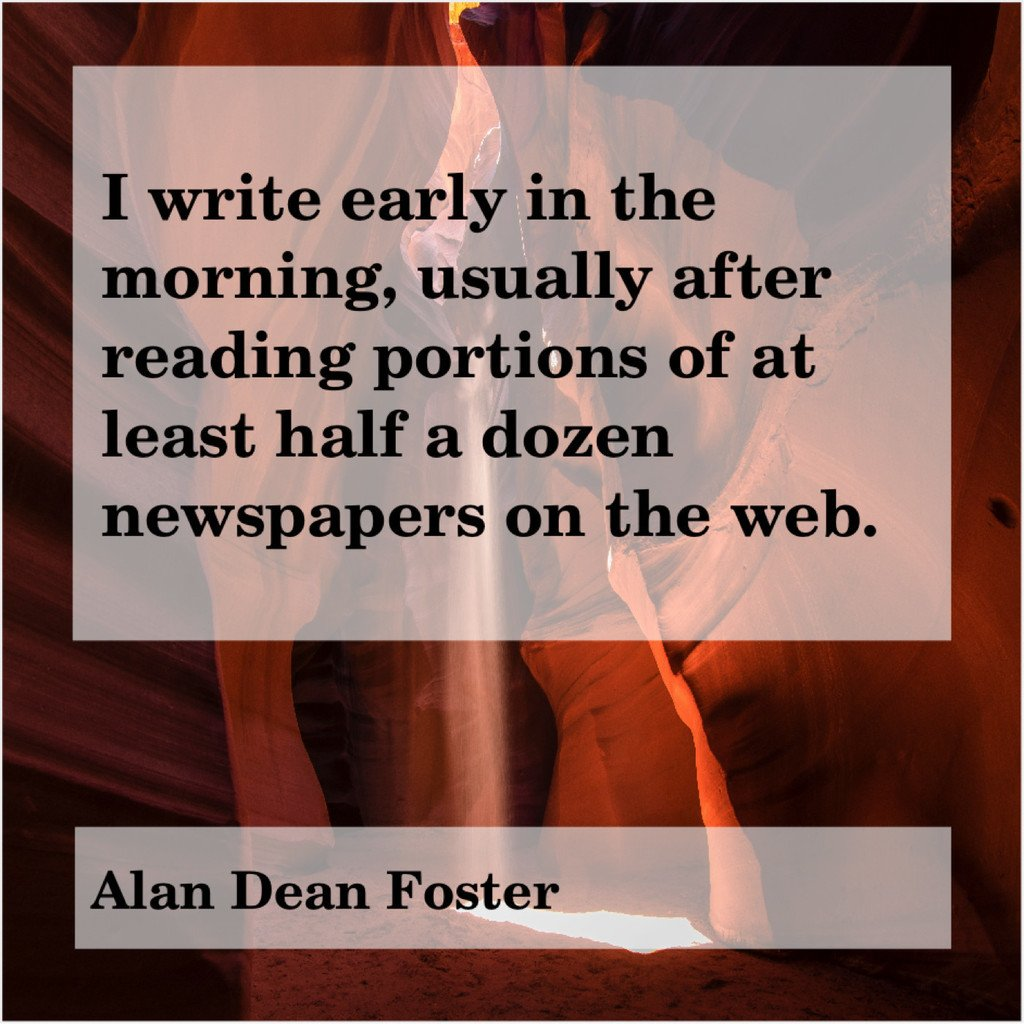 Alan Dean Foster – I write early in the… Get More FREE Quotes, Go Here!: https://t.co/WoI6BZuAOe https://t.co/hpOAlQBegE