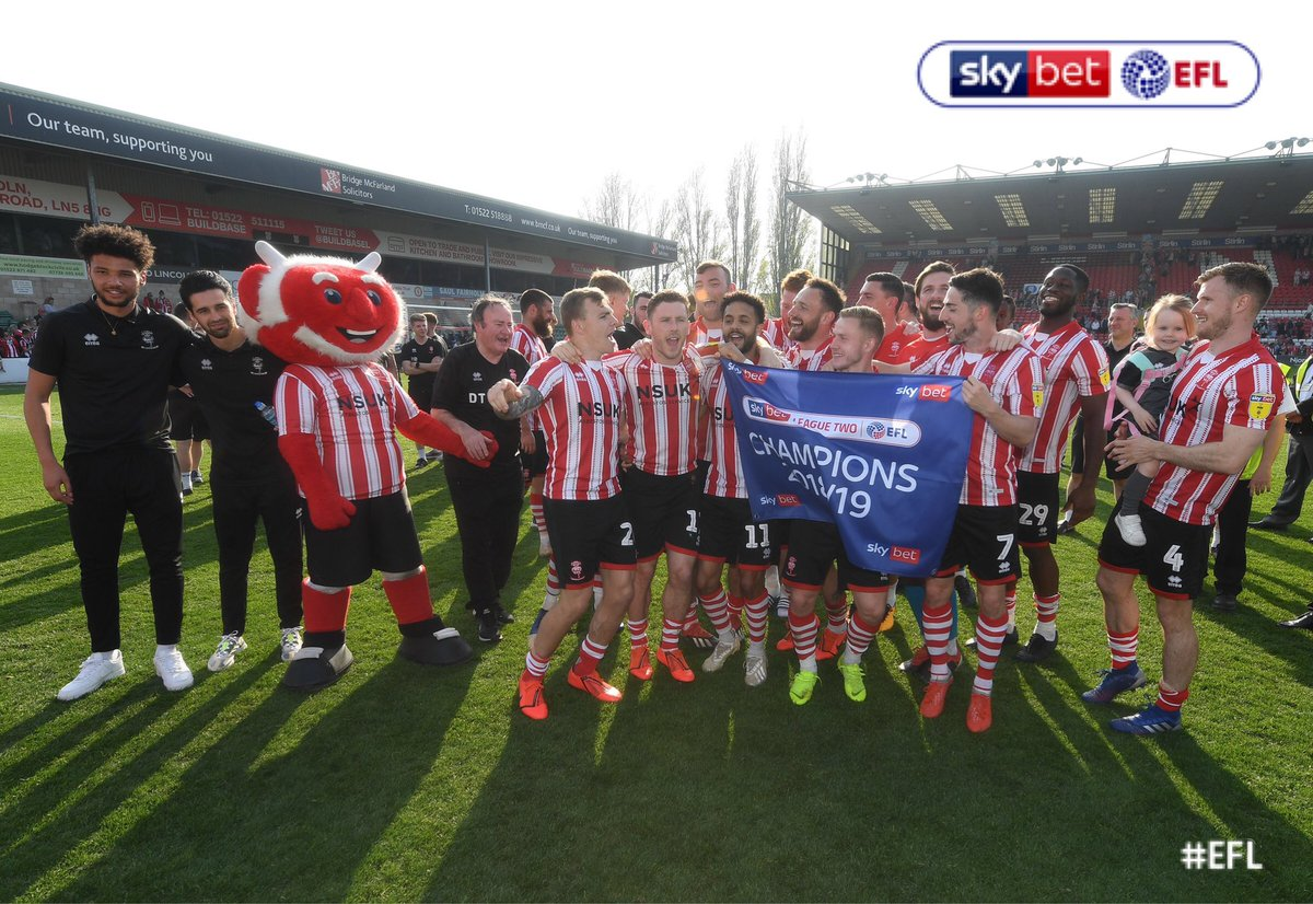 CHAMPIONS    Congratulations to all at @LincolnCity_FC - enjoy the celebrations!  #EFL | #Imps<br>http://pic.twitter.com/0A6ikO3mPs