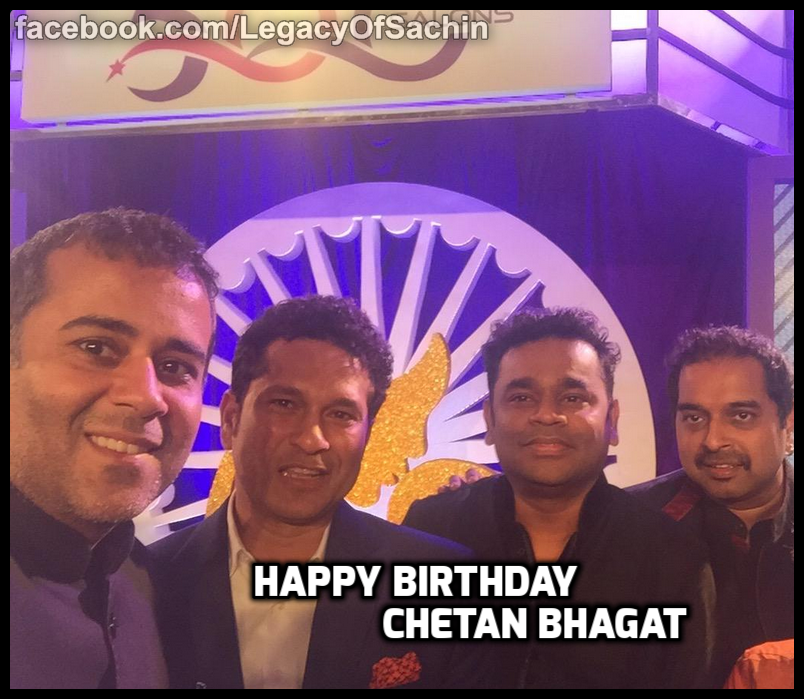 #HappyBirthday one of india's finest modern day writer @chetan_bhagat   -A post from @sachin_rt pakistani fan page