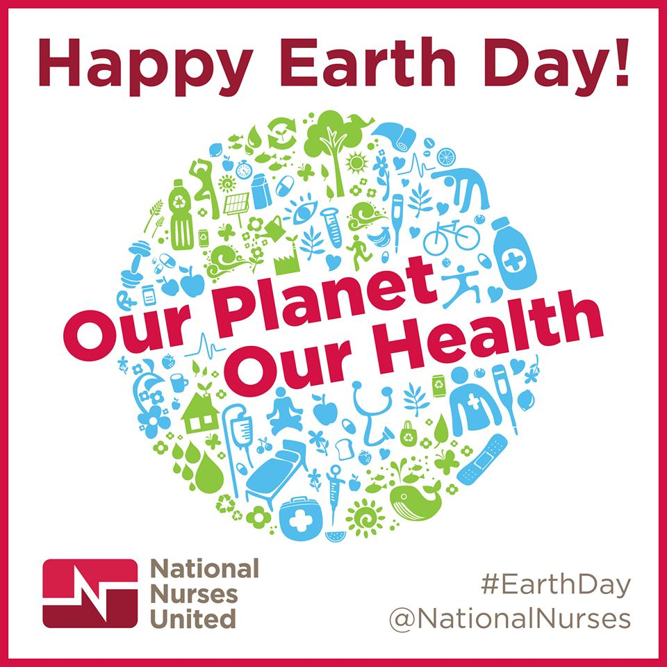 The health of the planet and the health of its&#39; people are intertwined.  Nurses witness daily the illness brought on by environmental injustice in our communities; disease from air pollution, polluted water, substandard housing, toxic dumping.  Let&#39;s make every day #EarthDay ! #1u <br>http://pic.twitter.com/2rIDlBM2yb
