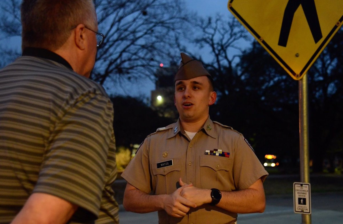 The young man pictured is Nathan Matos of the @AggieCorps of Cadets.  He was kind enough to host myself and Jas Williams as we dined with the Corp in February. I was deeply sadden to hear Nathan passed away this weekend after an automobile accident.