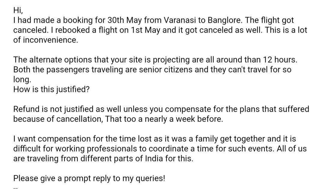 test Twitter Media - Hey @flyspicejet, care to reply to consumer complaints over email ? https://t.co/diJe6MTRsp