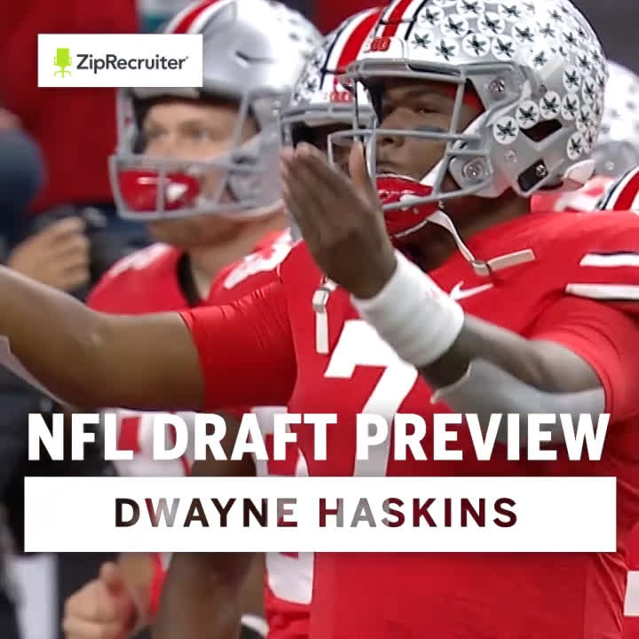 There aren't enough characters to list @dh_simba7's 2018 accolades.  Just know that the former @OhioStateFB star will be @B1Gfootball's first QB to go in the first round since Kerry Collins.  BTN x @ZipRecruiter