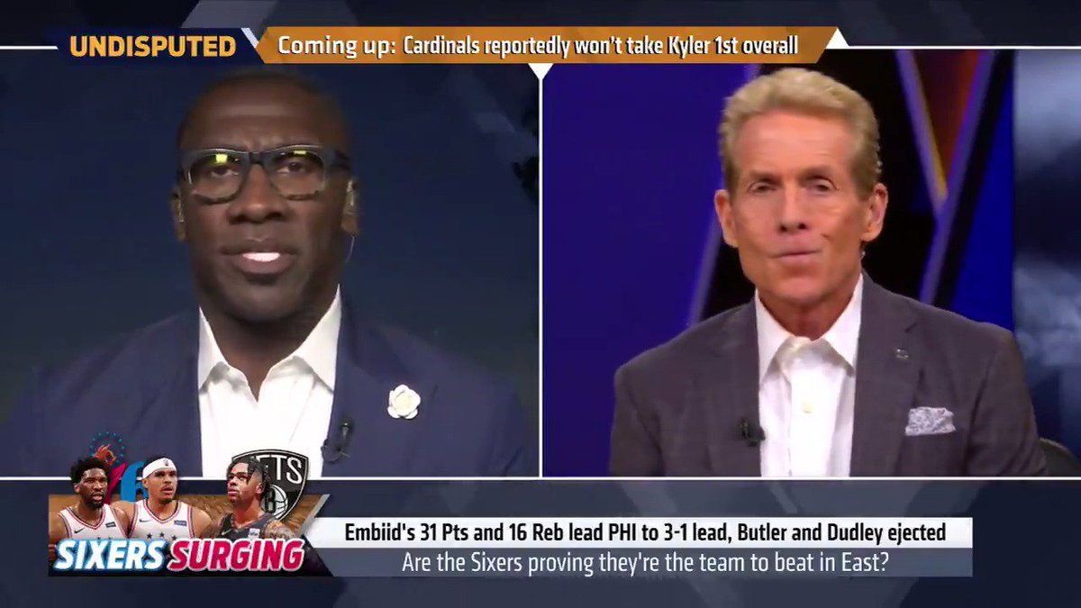 """""""D'Angelo Russell has had an unbelievable season, I believe he should be Most Improved, but he's not better than Jimmy Butler, Joel Embiid, Ben Simmons."""" — @ShannonSharpe"""