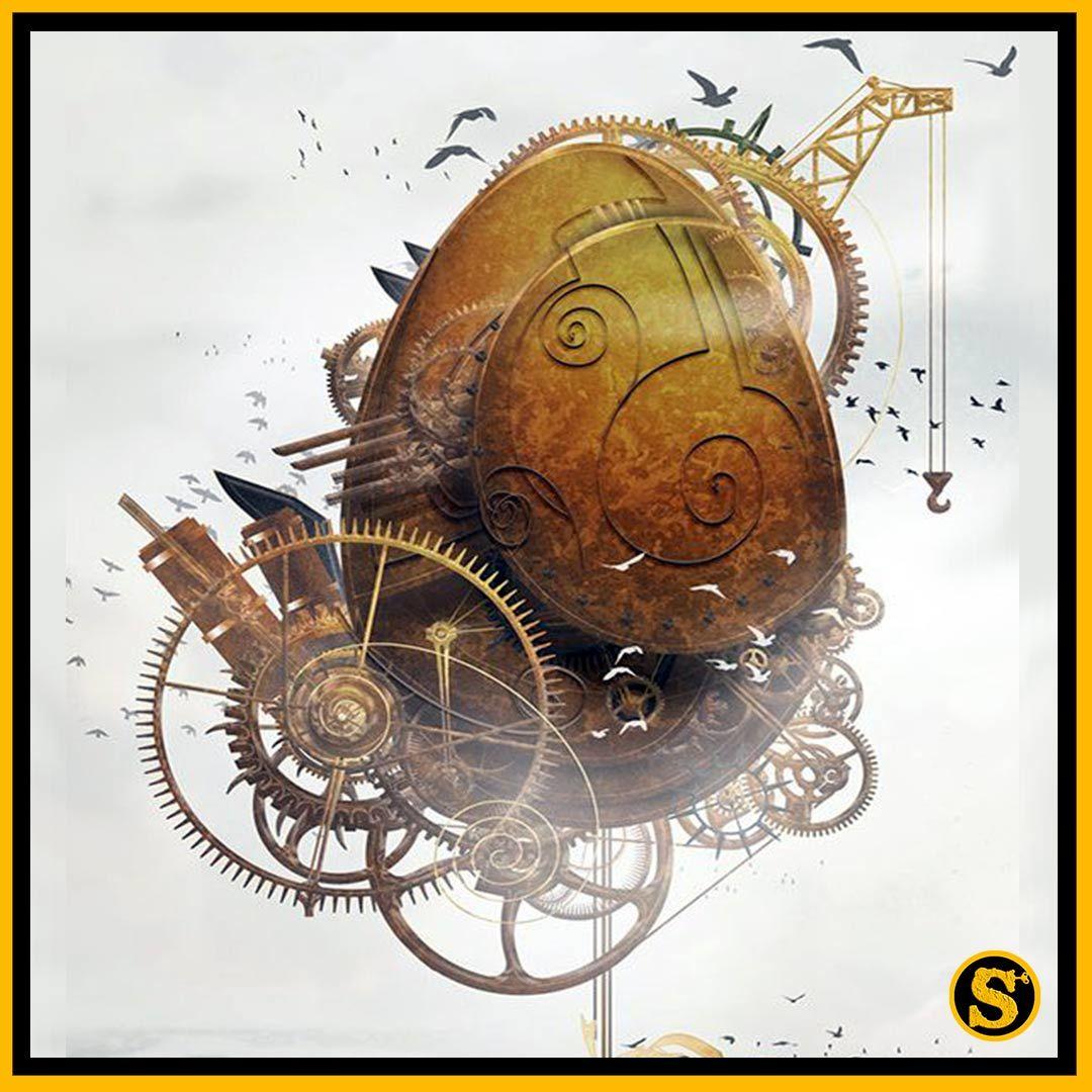 #Geek 🤓 Awesome of the Day: #Steampunk ⚙️ #Easter #Artwork 🖼️ #Illustration via @Steampunkstore1 #SamaGeek #SamaCuriosities 👀