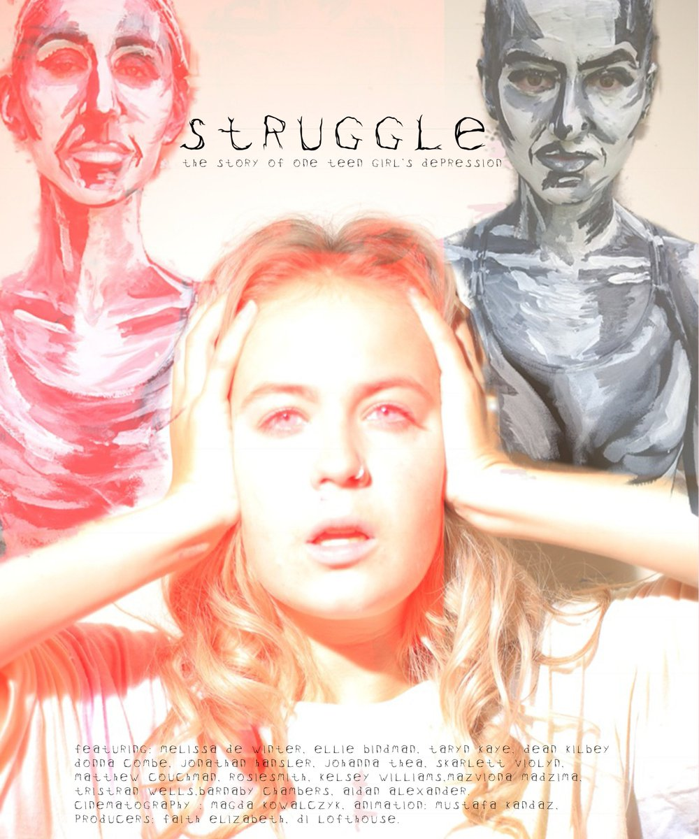 New poster for Struggle our latest short film: #film #mentalhealthawareness
