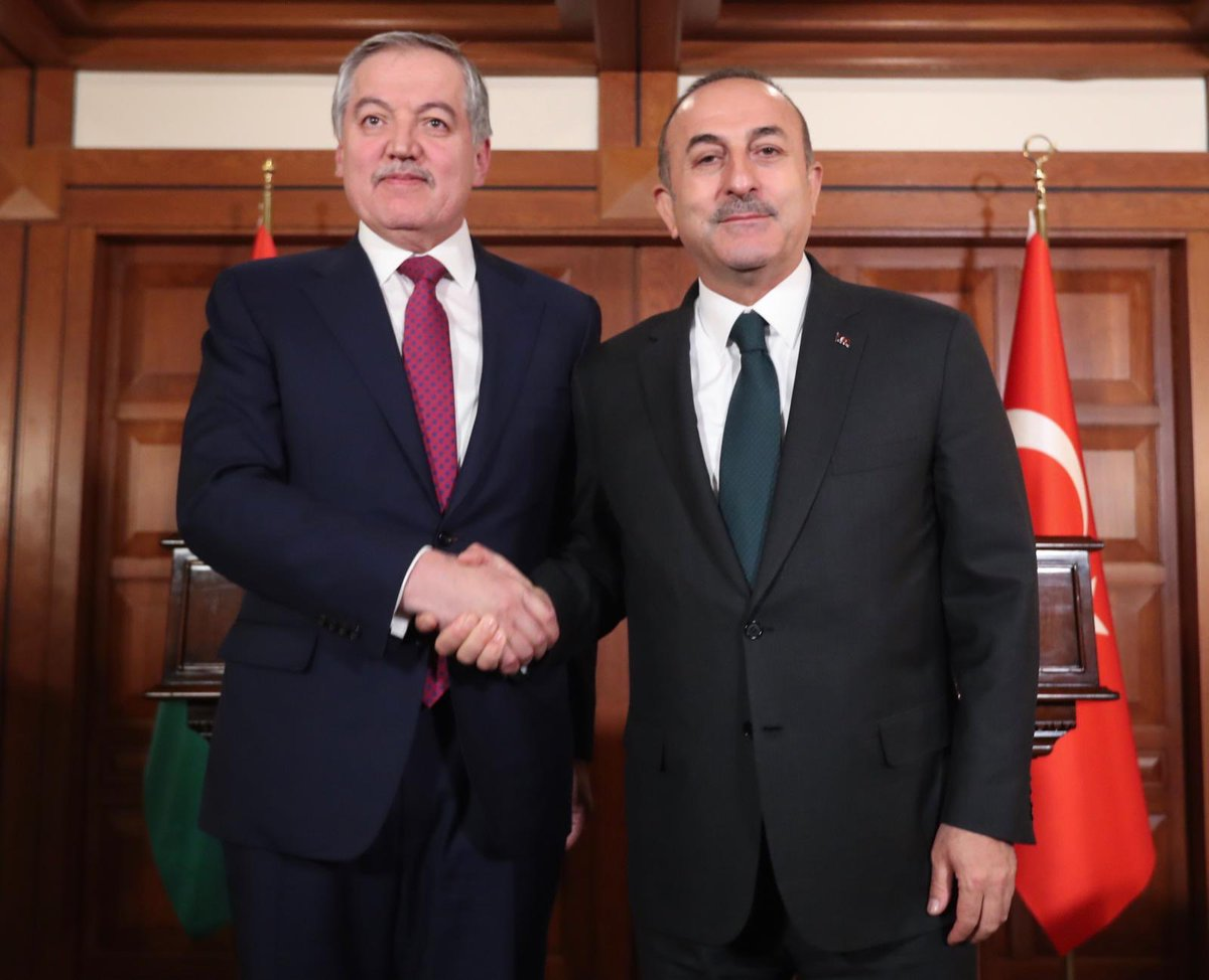 Will provide a favorable environment for investors, develop civil aviation&amp;open reciprocal cultural centers to boost #Turkey-#Tajikistan relations. Determined to increase our bilateral trade volume to $1 billion. @OfMfa #SirojiddinMuhriddin<br>http://pic.twitter.com/6anZFXsMsM