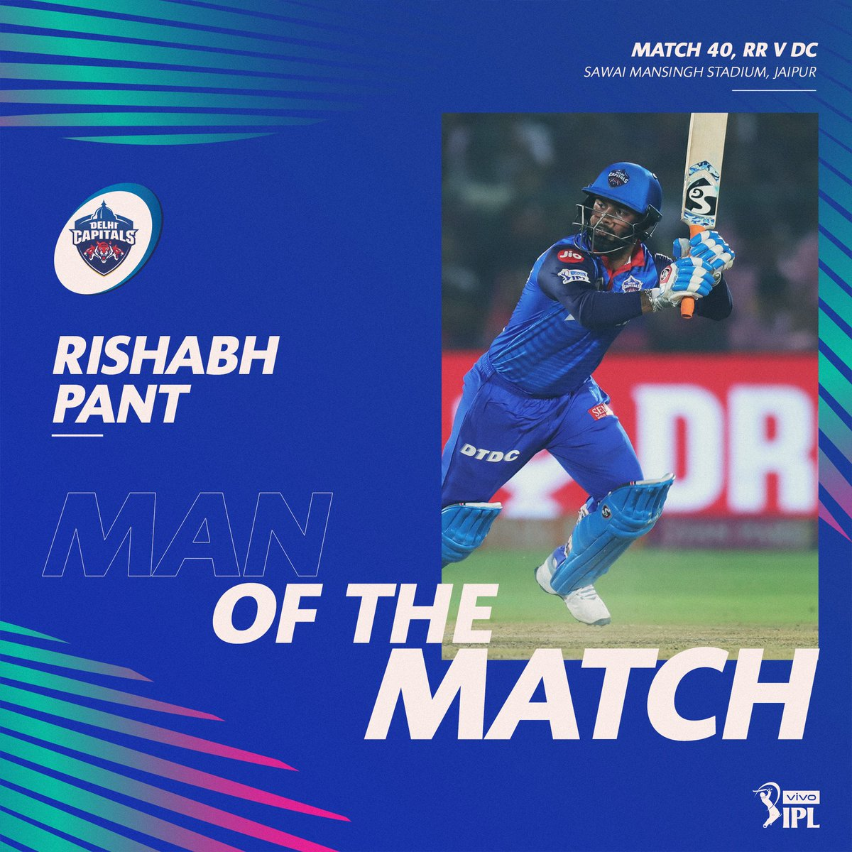 Rishabh Pant is adjudged the Man of the Match for his match-winning innings of 78* off 36 deliveries 🕺🕺