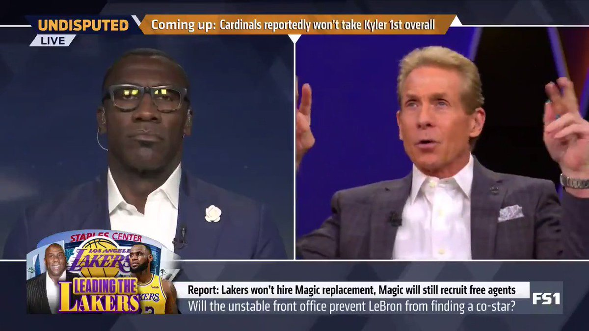 """""""This all actually makes me feel sorry for LeBron James. I never thought I'd see the day, and I believe today is going to be that day, that the Los Angeles Lakers are viewed around the league as a laughing stock. ... Kobe's guy is LeBron's quote-unquote boss."""" — @RealSkipBayless"""