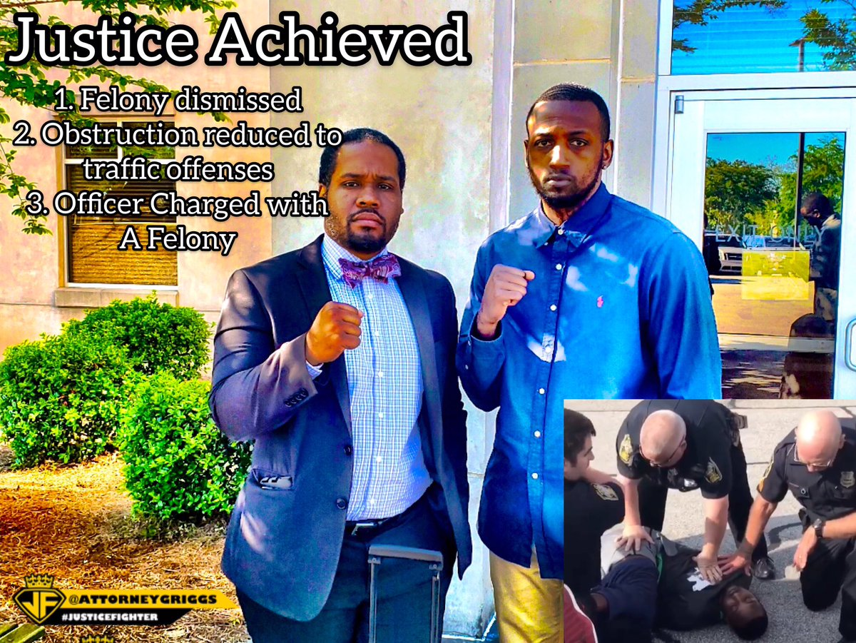 Many times in these viral police incidents, justice is denied. Well today our client @ibeattheodds_ got another measure of justice in Henry County. @chrisstewartesq @priceboydlaw #justicefighter #DesmondMarrow.
