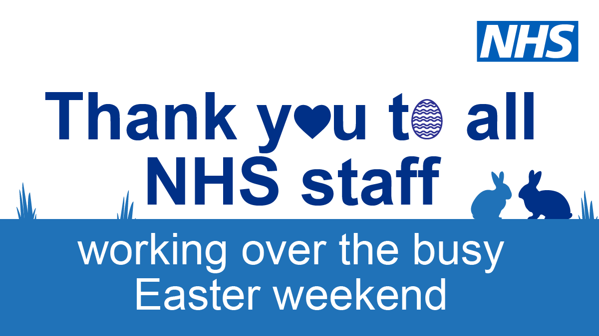 Thank you to all NHS staff who worked over this busy #EasterWeekend  to look after us and our loved ones #TeamNHS  #ThankYouNHS <br>http://pic.twitter.com/oBdpboCKKg