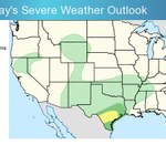 Image for the Tweet beginning: Severe weather is possible this