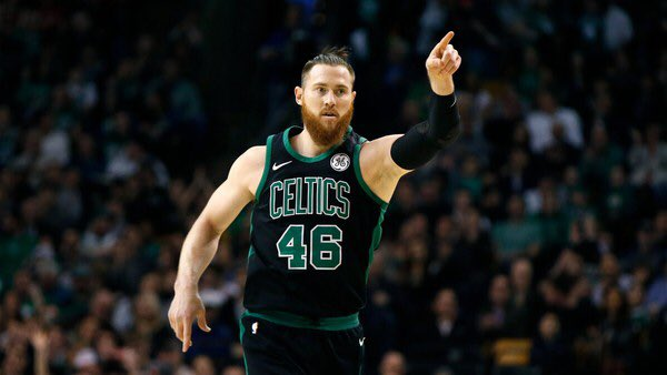 Complete list of players this postseason to shoot at least 60% from the field and 50% from beyond the arc*  1) Aron Baynes  *Minimum 77 minutes played, 8 FGs attempted, 2 three pointers attempted <br>http://pic.twitter.com/42pR4RlkWt