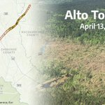 Image for the Tweet beginning: We overlaid the #AltoTornado path
