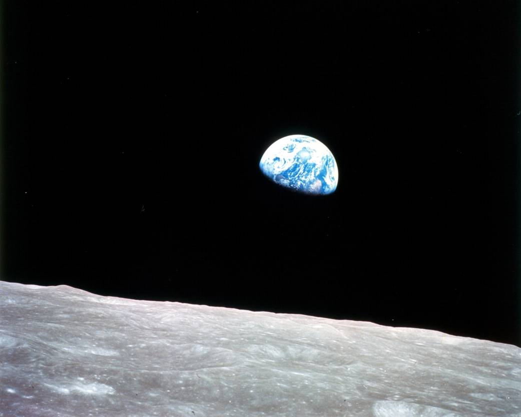 """""""We came all this way to explore the Moon, and the most important thing is that we discovered the Earth."""" - Bill Anders, Apollo 8   Anders' iconic Earthrise photo taken in 1968 helped spark the first #EarthDay. Can you see why? #PictureEarth https://t.co/r5PlnS8H1t"""