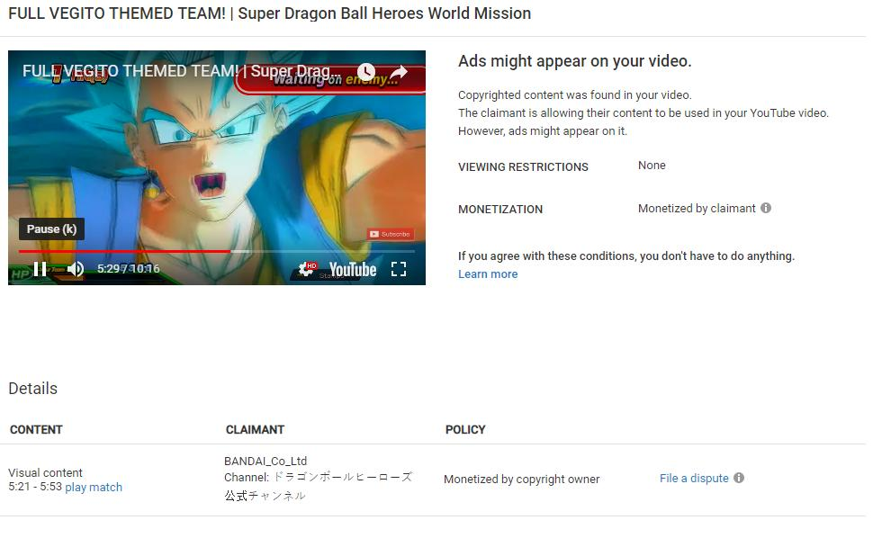 Video today will be very late. I was about to publish, but Bandai apparently can claim it for some dumb reason