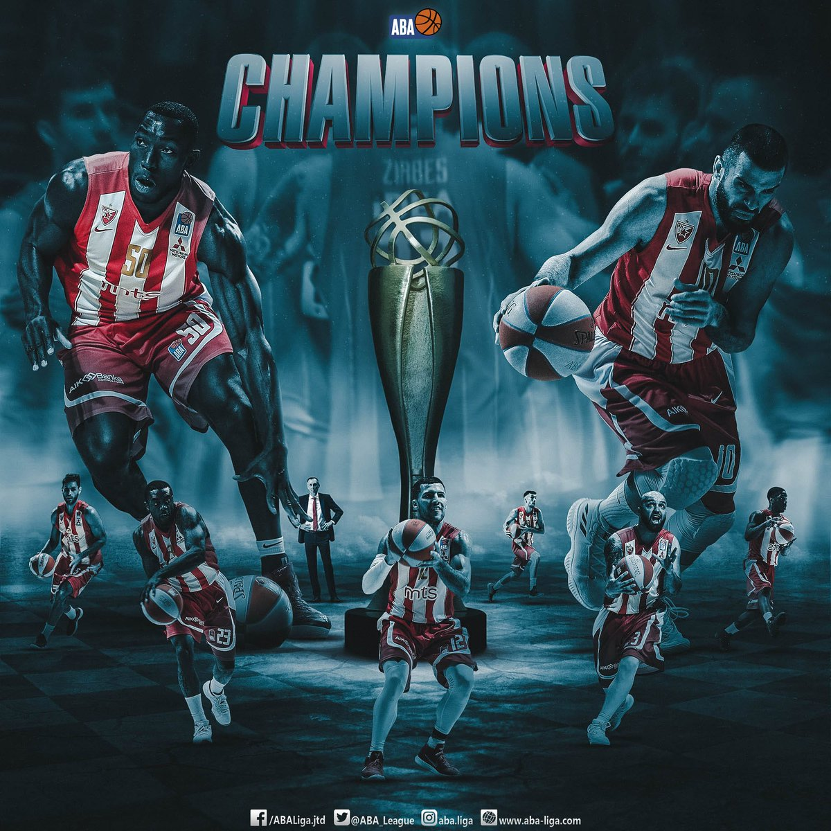 Congratulations to the 2018/19 #ABALiga champions - @kkcrvenazvezda!<br>http://pic.twitter.com/mIXMsJI6d4