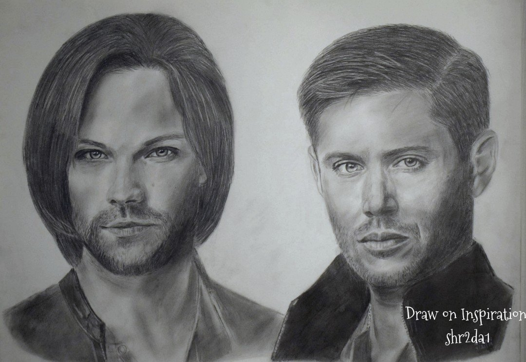 Just a sketch from S10 promos. A lot of water under the bridge since then! #spnfamily @WinchesterBros @FangasmSPN<br>http://pic.twitter.com/Bcz41bqVJl