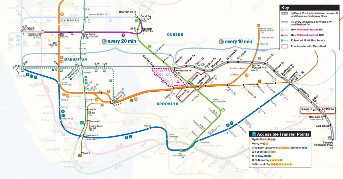 Subway Map Manhattan To Brooklyn Pdf.Nyct Subway On Twitter L Trains Will Run Every 10 Minutes In