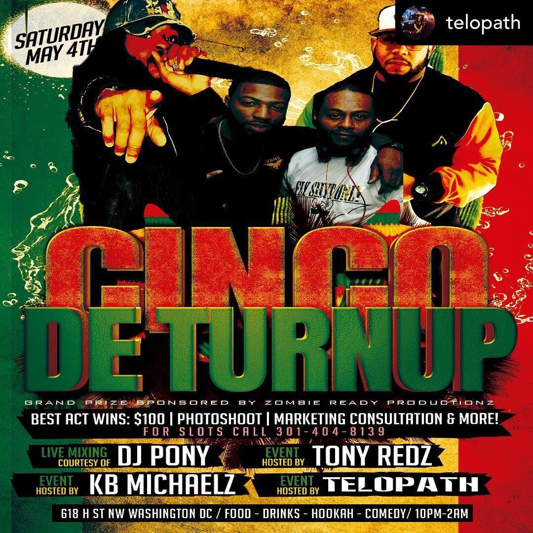 "May 4th come out as we turn up again in Chinatown Dc  ""Cinco De Turn Up"" @tonyredz247  @telopath @kb_michaelz @izdjpony or @kb_michaelz! #telos🌎 #telopathtv #realyaadmantv #realyaadmantv #reggae #hiphop #fusion #rasta #rebel #myjamaicansoul #nowornever #timeisnow"