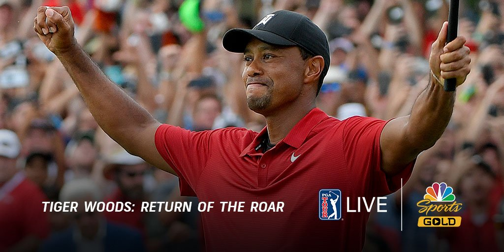 Over a week later, were still thinking of Tigers win at #TheMasters ✨ Tiger Woods: Return of the Roar is now available with PGA TOUR LIVE on @NBCSportsGold. Buy today and get access: watchgolf.ch/URotVS