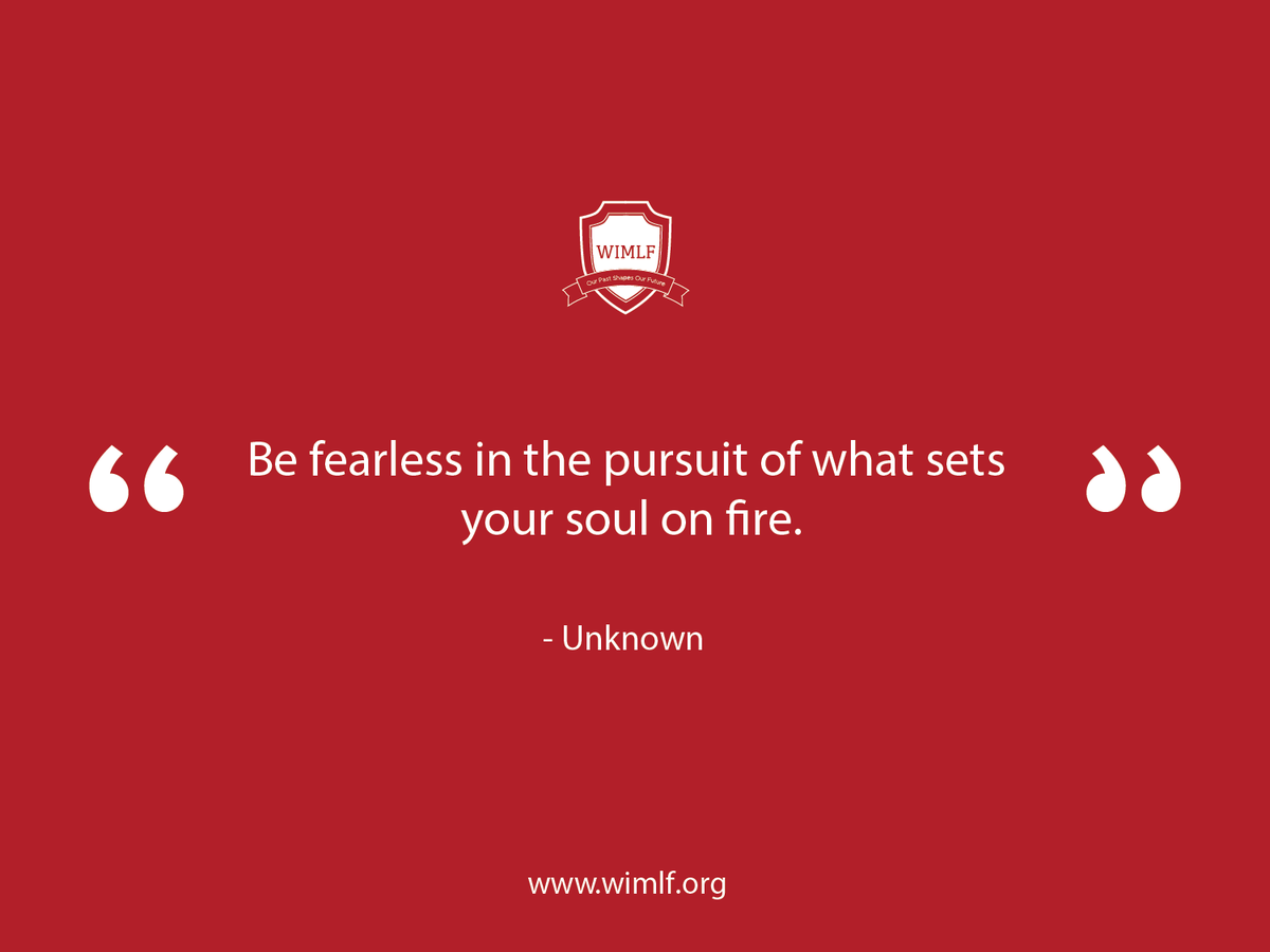 """""""Be fearless in the pursuit of what sets your soul on fire."""" - Unknown #QOTD #Empowerment"""